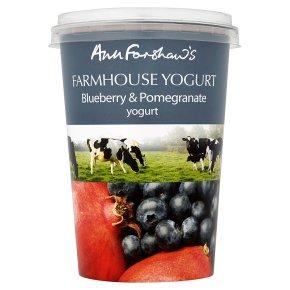 Anne Forshaw's farmhouse yogurt bluberry
