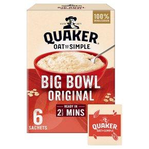 Quaker Oats So Simple Big Bowl original porridge cereal sachets