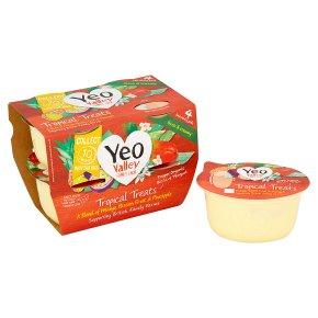 Yeo Valley 4 organic tropical treats yogurts