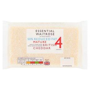 Essential Waitrose half fat english mature cheese