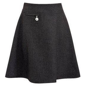 Girls A-line skirt, grey, 7 years