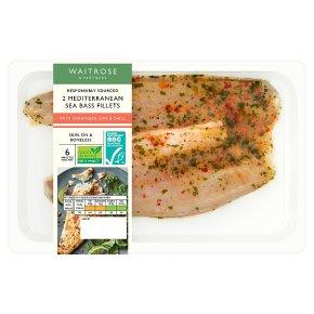 Waitrose Sea Bass Fillets, Coriander, Lime & Chilli