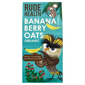 Rude Health Banana Berry Oats