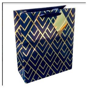Waitrose Gold Geometric Medium Bag