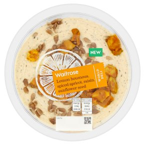 Waitrose World Deli Lemon Houmous with Spiced Apricot