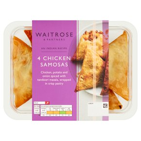 Waitrose Indian 4 Chicken Samosas
