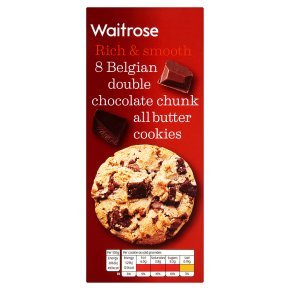 Waitrose 8 Belgian Double Chocolate Cookies