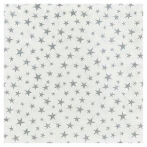 Waitrose Home Silver Stars Napkins 33cm x 33cm