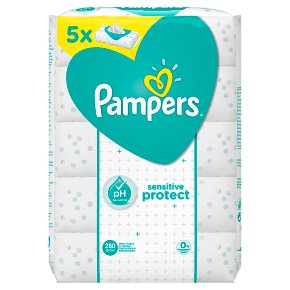 Pampers Sensitive Protect Baby Wipes 5 Packs (280)