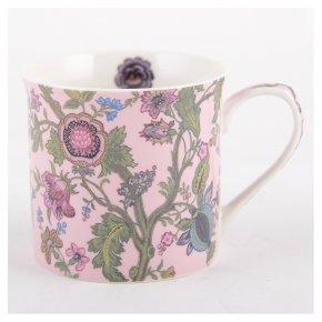 V&A pink oriental poppy mug