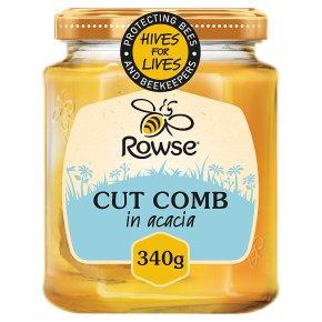 Rowse Cut Comb in Acacia Honey Jar