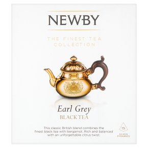 Newby Earl Grey black tea 15 silken pyramids