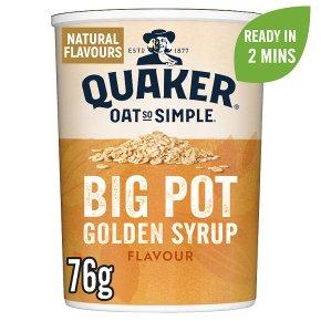 Quaker Oat So Simple Golden Syrup Big Pot