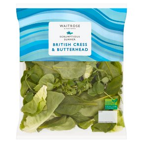 Waitrose British Cress & Butterhead