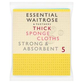 essential Waitrose Thick Sponge Cloths