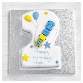 2nd Birthday Train Cake
