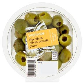 Waitrose World Deli Nocellara Olives, Orange, Yuzu