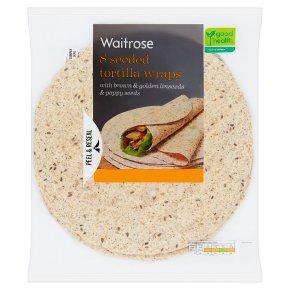 Waitrose LoveLife 8 seeded tortilla wraps