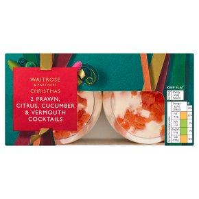 Waitrose Christmas Prawn, Citrus Cucumber Cocktails