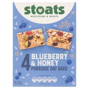 Stoats 4 Blueberry & Honey Porridge Oat Bars