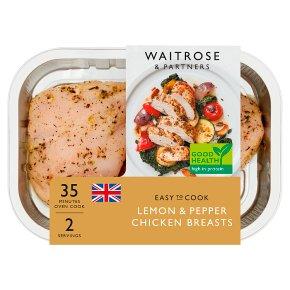 Waitrose Easy to Cook lemon & pepper chicken breasts