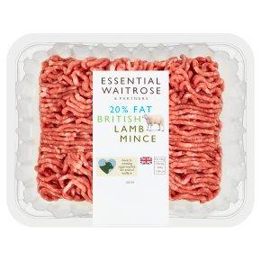 essential Waitrose British lamb mince 20% fat