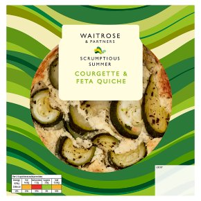 Waitrose Courgette & Feta Quiche