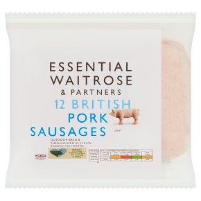 essential Waitrose British Pork 12 Sausages