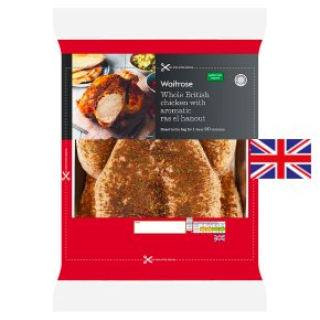 Waitrose Whole British Chicken with Ras El Hanout
