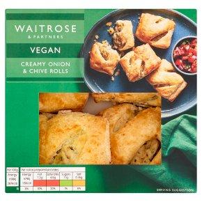 Waitrose Vegan Creamy Onion & Chive Rolls