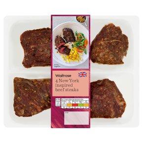 Waitrose 4 New York Beef Steak