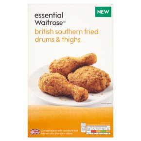 essential Waitrose British southern fried drum & thighs