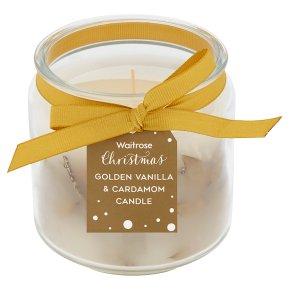Waitrose Golden Vanilla Jar Candle