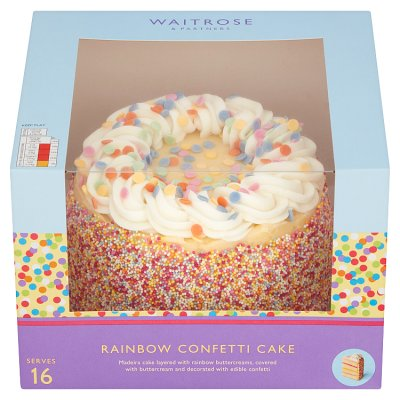 Fine Waitrose Rainbow Confetti Cake Waitrose Partners Funny Birthday Cards Online Inifofree Goldxyz