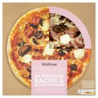 Waitrose hand stretched mushroom, bacon & mascarpone pizza - 440g