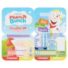 Munch Bunch Double Up strawberry & vanilla fromage frais - 4x85g