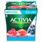 Activia fat free red fruit yogurt variety pack - 8x125g