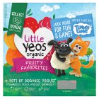 Little Yeos Organic Fruity Favourites Kids Yogurts - 4x90g