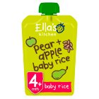 Ella's Kitchen Organic pears, apples & baby rice - stage 1  baby food - 120g