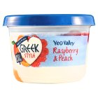 Yeo Valley 0% Fat Greek Style Raspberry & Peach - 450g