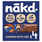 Nakd Bluberry Muffin Wholefood Bars - 4x35g