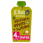 Ella's kitchen Organic spinach, apple & swede - stage 1 baby food - 120g