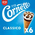 Cornetto classico 6 pack ice cream cone - 6s