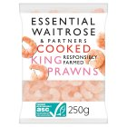 essential Waitrose cooked king prawns - 235g