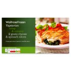 Waitrose Frozen 2 goats cheese & spinach slices - 200g