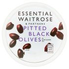 essential Waitrose pitted black olives - 130g