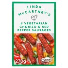 Linda McCartney Vegetarian Chorizo & Pepper Sausages - 300g