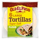Old El Paso Large Super Soft Flour Tortillas x6 - 350g